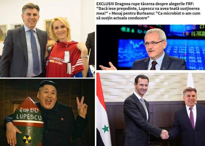 Lovitură de imagine! După Dragnea și Firea, Lupescu a obținut și suținerea lui Kim Jong-un și Bashar al-Assad