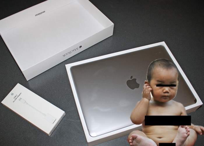 Super ofertă la noul MacBook Pro! La garanţia extinsă primeşti şi copilul chinez care l-a asamblat