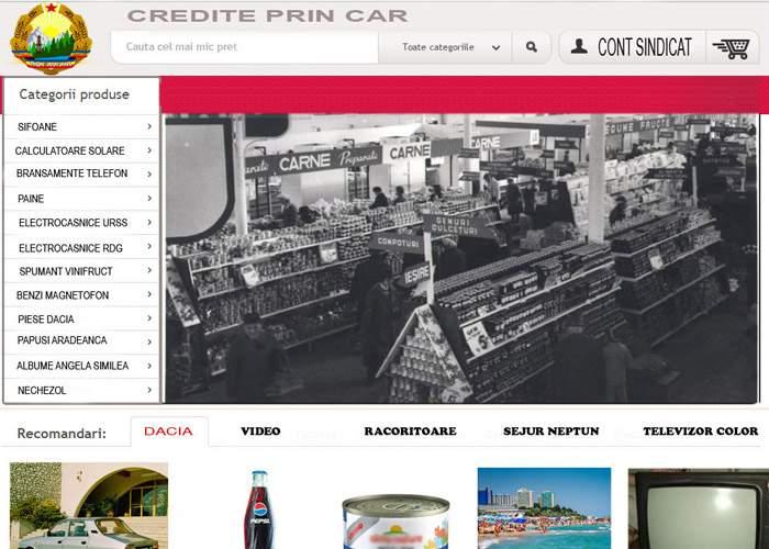 Pentru nostalgicii comunismului! A apărut un magazin online în care nu se găseşte nimic