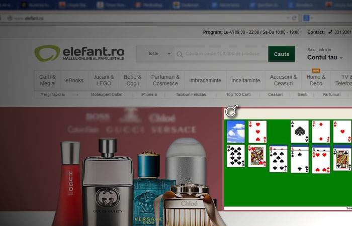 Magazinele online vor avea un colţ unde bărbaţii pot juca Solitaire până termină soţia cumpărăturile