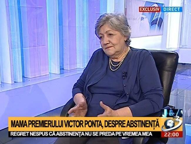 """Mama lui Victor Ponta își amintește cu regret: """"Pe vremea mea nu se preda abstinența"""""""