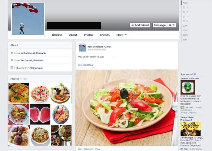 Studiu! Cei care pun poze cu ce mănâncă pe Facebook au fost abuzaţi sexual într-o viaţă anterioară