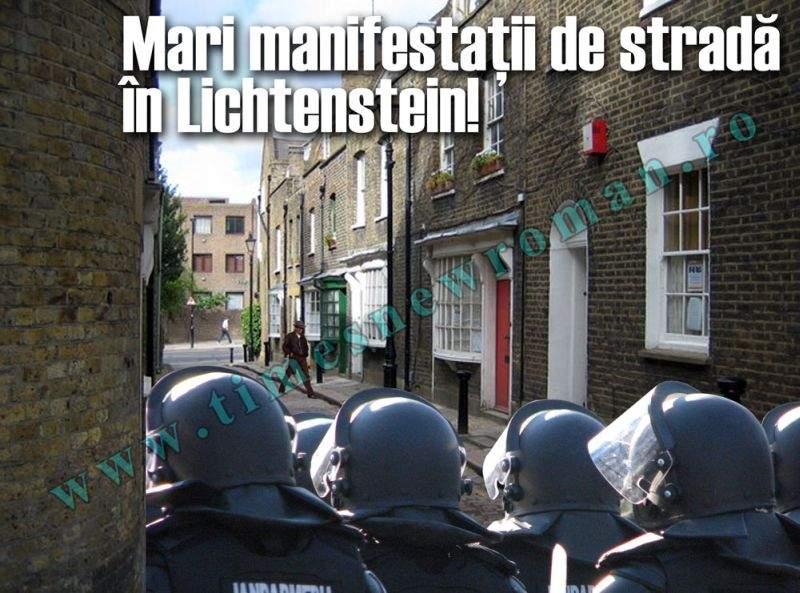 Proteste de stradă de o amploare fără precedent în Lichtenstein