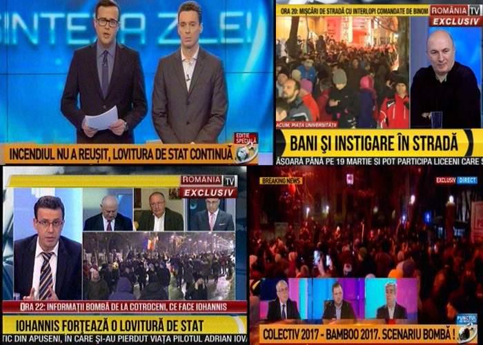Top 10 manipulări pregătite de RTV şi Antena 3 pentru protestul de diseară