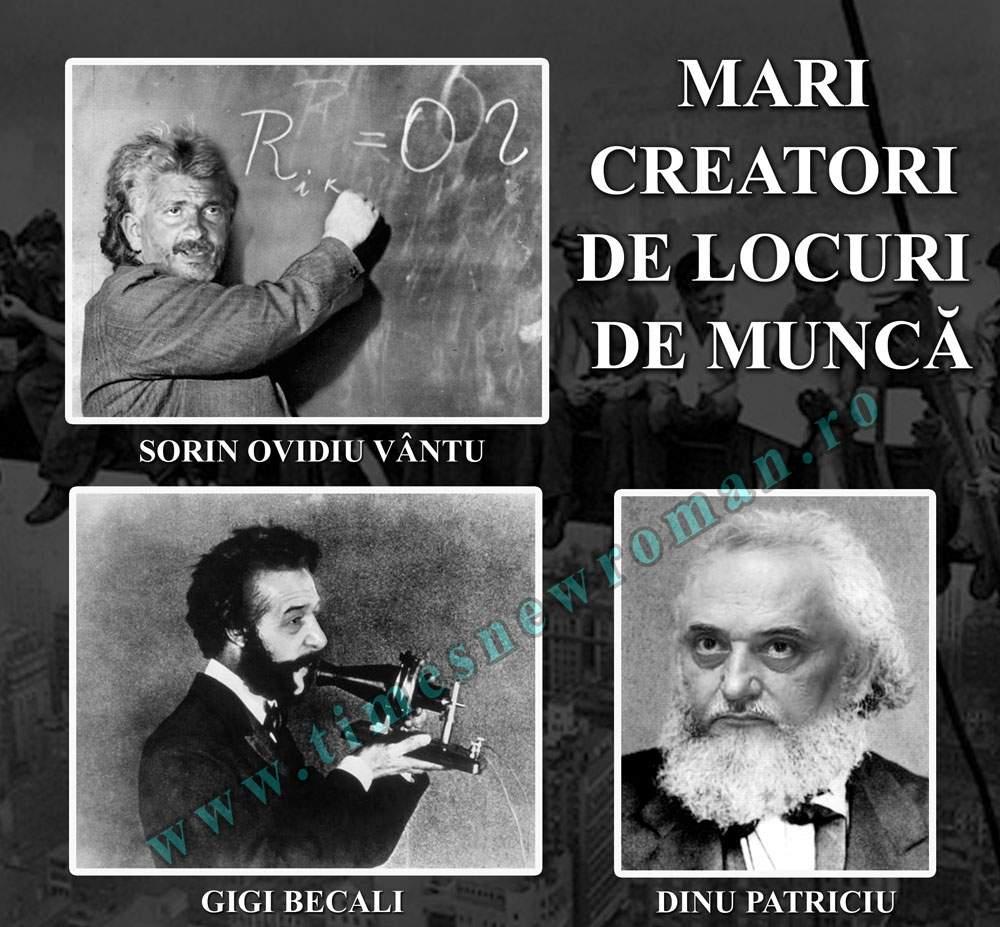 Mari români: Creatorii de locuri de muncă – Gigi Becali, Patriciu, Vântu