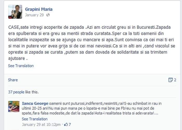 """Facebook i-a închis contul Mariei Grapini! """"Se vede că are 5 ani, or limita de vârstă e 13 ani!"""""""