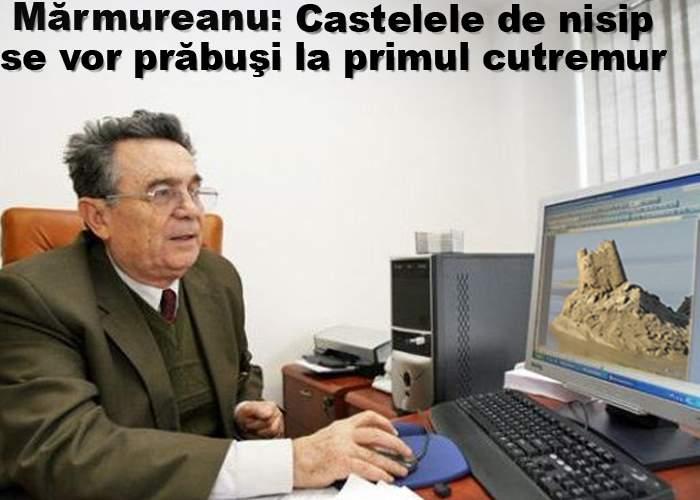 """Mărmureanu: """"Castelele de nisip de pe plaja Mamaia se vor prăbuşi la primul cutremur"""""""