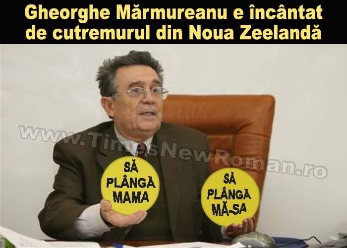 """Gheorghe Mărmureanu: """"Cutremurul din Noua Zeelandă mă face fericit"""""""