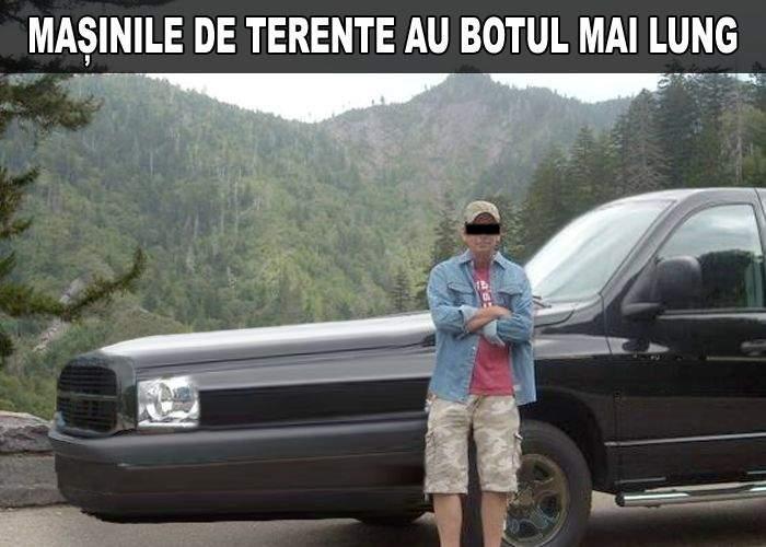 Un bărbat foarte bine-dotat și-a cumpărat mașină de Terente