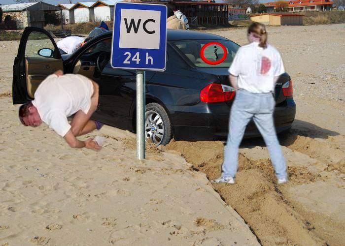 Veste bună! Maşinile cocalarilor parcate pe plaja din Vama Veche vor putea fi folosite drept toaletă