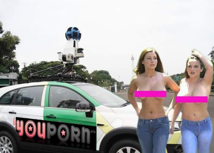 După mașinile Google, au apărut și mașinile YouPorn, care filmează tipele sexy de pe stradă
