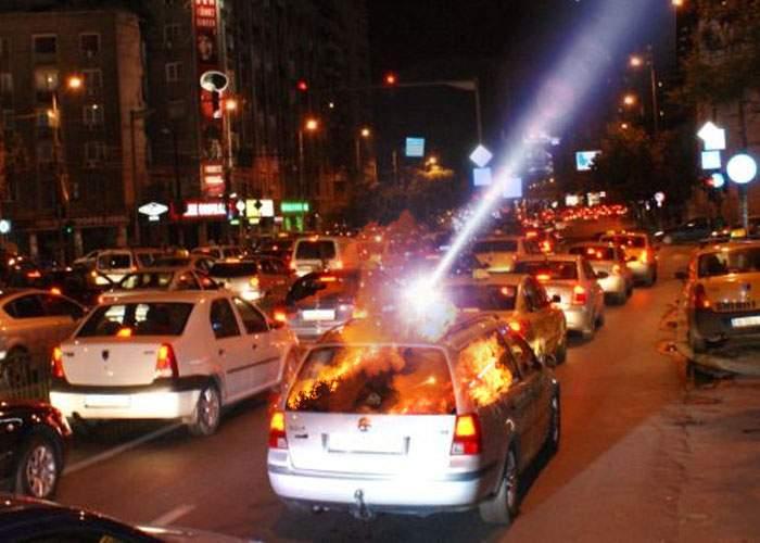 Care piroman? Maşinile din Bucureşti, incendiate de Dorel de la laserul din Măgurele, care a adormit cu capul pe butoane
