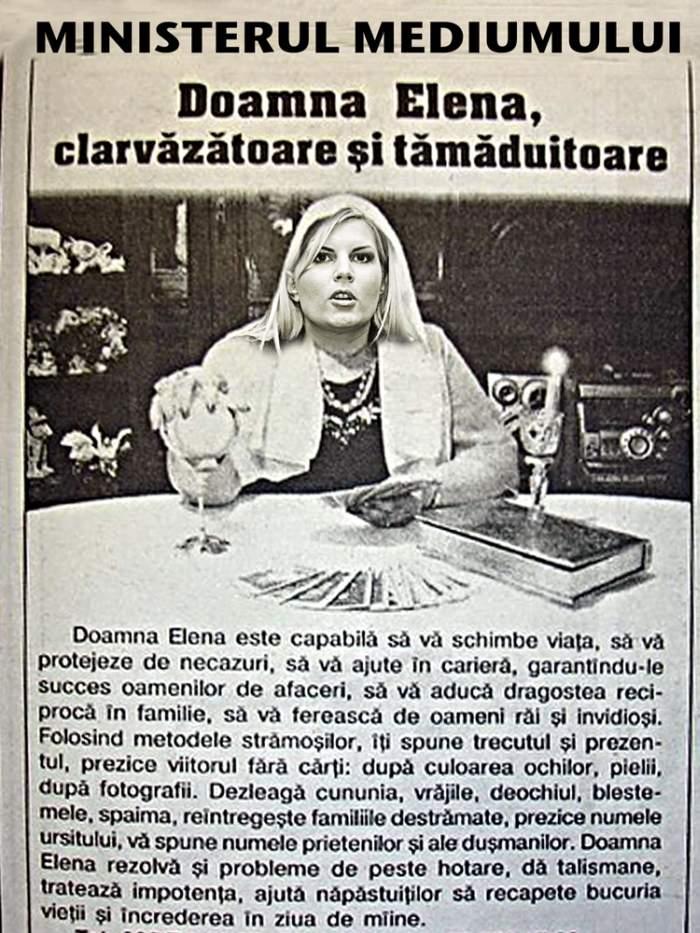 Doamna Elena Udrea, clarvăzătoare şi tămăduitoare