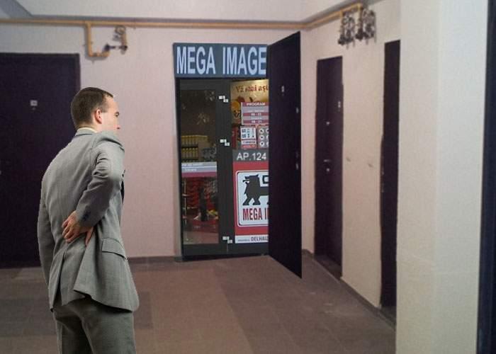 Întors din vacanţă, un bucureştean a găsit un magazin Mega Image deschis în propriul apartament