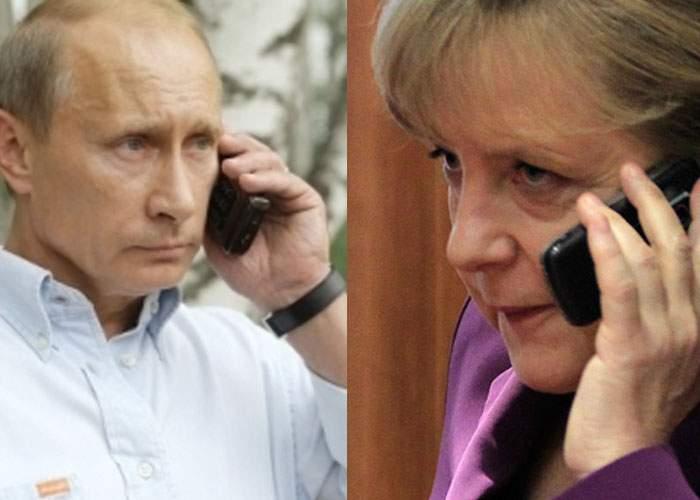 Tensiune: Merkel şi Putin au discutat mai bine de o oră la telefon despre divorţul Biancăi Drăguşanu