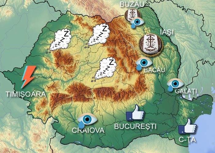 Meteo! Cum au fost afectate regiunile României de moartea lui David Bowie