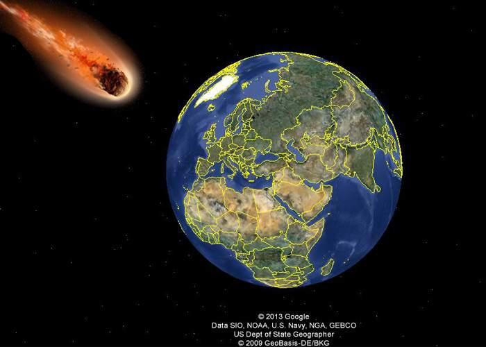 Un Google Asteroid de dimensiuni apreciabile ar putea lovi Google Earth