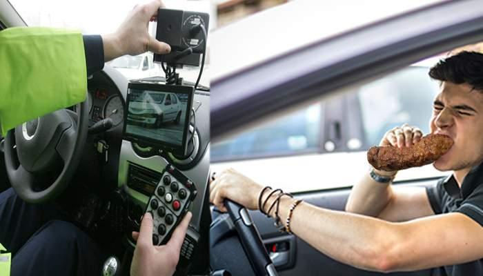 Nou record naţional de 1 Mai. Un şofer a fost prins de radar mâncând mici la 280 km/h