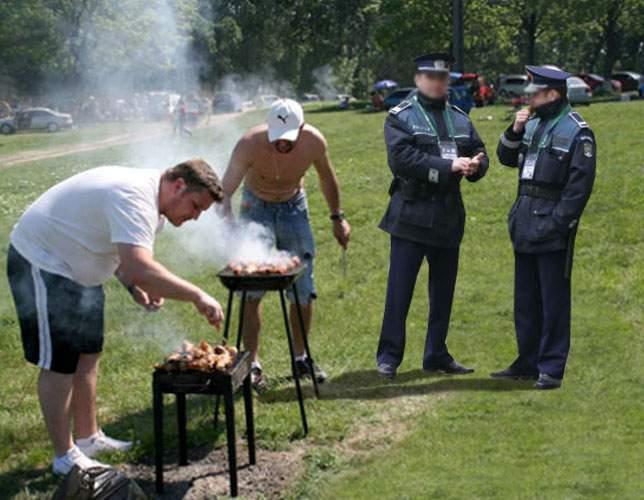 Sancţiuni drastice pentru grătar în locuri nepermise: poliţistul îţi va mânca 50% din mici