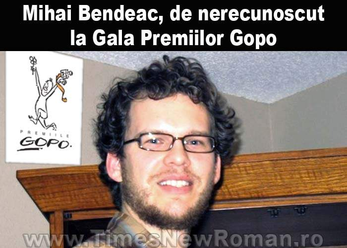 Mihai Bendeac, de nerecunoscut la Gala Premiilor Gopo