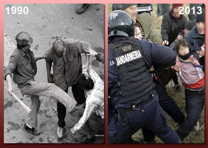 """Iliescu e nostalgic: """"Jandarmii care bat protestatari îmi amintesc cu plăcere de minerii din '90"""""""