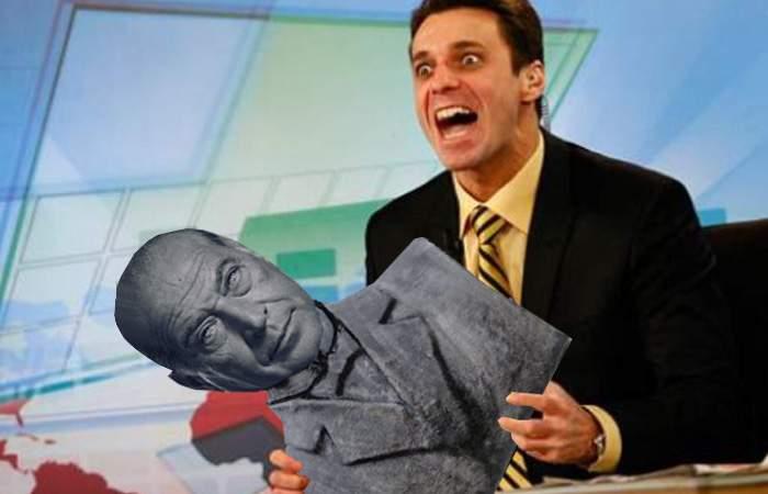 Mircea Badea a aruncat un bust al lui Dan Voiculescu, pe motiv că nu avea cur pe care să-l pupe