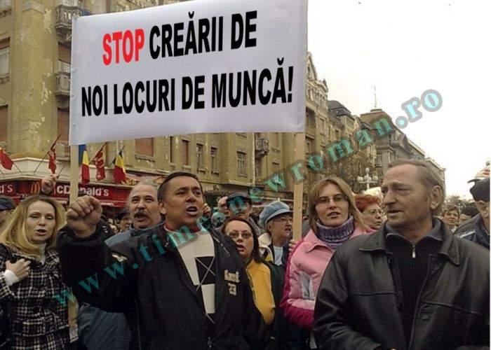 Vasluienii protestează împotriva creării de noi locuri de muncă în oraş