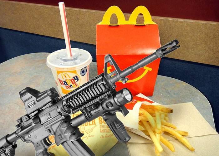 Americanii ne sprijină discret împotriva ruşilor! Luna asta, la Happy Meal primeşti o mitralieră
