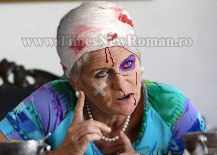 Monica Tatoiu, bătută cu sălbăticie de Mircea Badea în timpul unei emisiuni TV