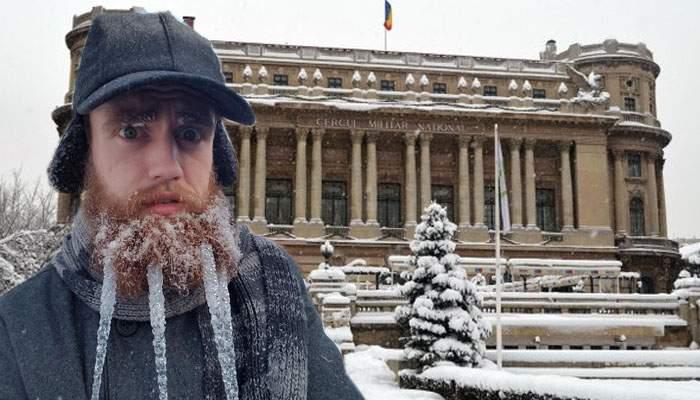 Efectul freezing rain. Bucureştenii au reclamat o invazie de morse, după ce au văzut hipsterii cu ţurţuri în bărbi