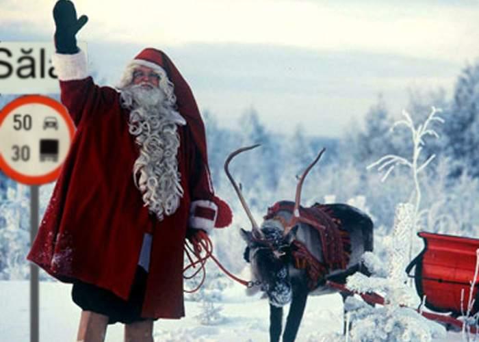 """Sătul de turiştii din Laponia, Moş Crăciun se mută într-o zonă şi mai izolată: """"Plec în Sălaj"""""""