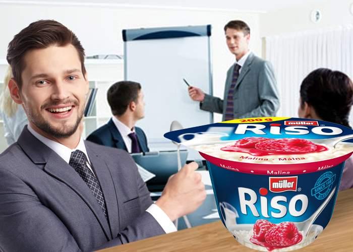 Un corporatist a descoperit un produs ingenios, pe care îl mănâncă în ședințe fără să crănțăne