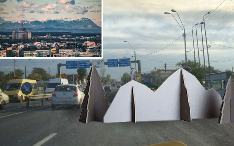 Wow! Iar se văd munţii de carton puşi la marginea oraşului ca să credem că e aerul curat