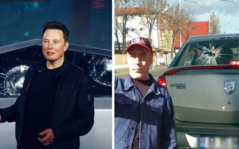 Inspiraţi de Elon Musk, cei de la Dacia lansează Loganul cu geamuri sparte!