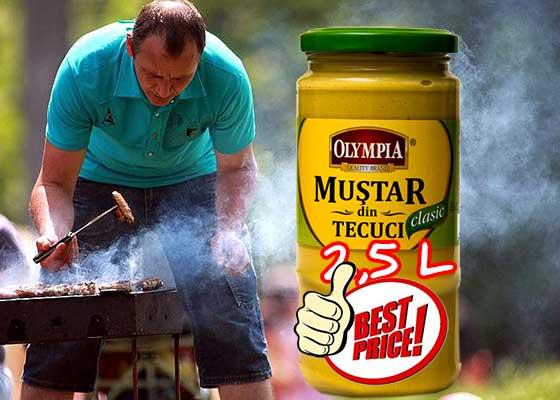 Muştar Tecuci lansează borcanul de muştar de 2,5 litri la preţ de 2 litri
