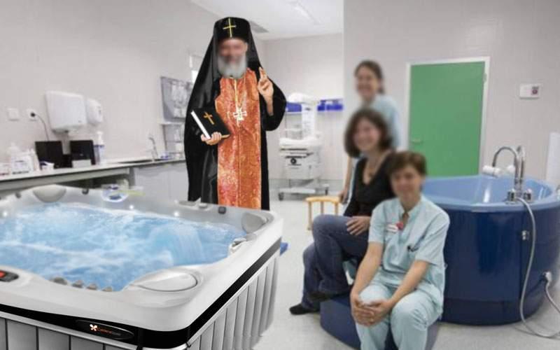 Naşterile în apă, din nou la modă! Copilul iese gata botezat