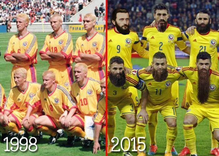 Dacă în '98 tricolorii s-au vopsit blonzi, acum Iordănescu i-a pus să-și lase bărbi ca Arsenie Boca