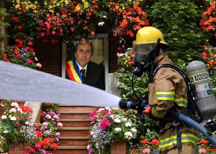 Încă un abuz al primarului Nichita! Pompierii din Iaşi spun că erau puşi să-i ude florile