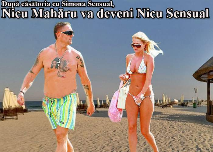 Simona Sensual și Nicu Mahăru se căsătoresc. Nicu Mahăru va deveni Nicu Sensual