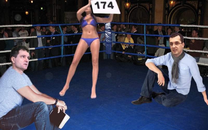 Studiu! Într-un un meci de box Nicușor vs. Vlad Voiculescu nu s-ar da niciun pumn în 174 de runde