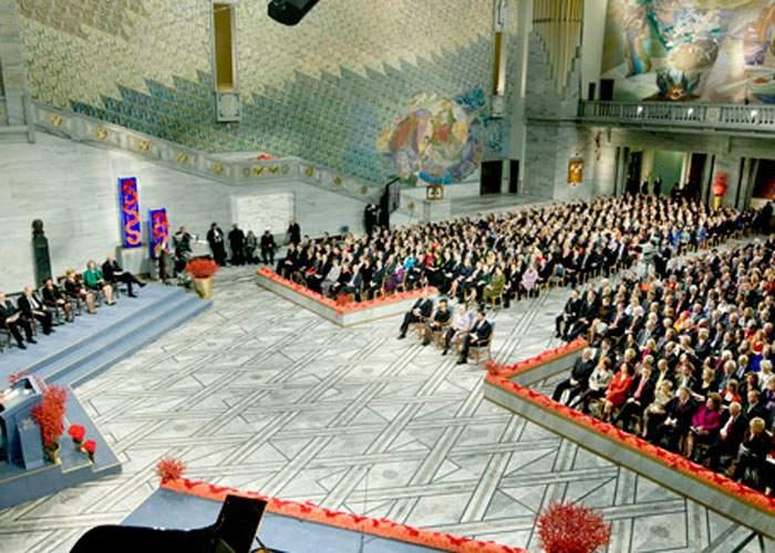 Sute de milioane de europeni s-au înghesuit la Oslo să-şi ridice premiul Nobel pentru Pace