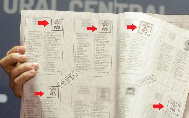 BEC a anunţat ordinea partidelor pe buletinele de vot! PSD e pe locurile 1, 2, 3, 5, 8 şi 13