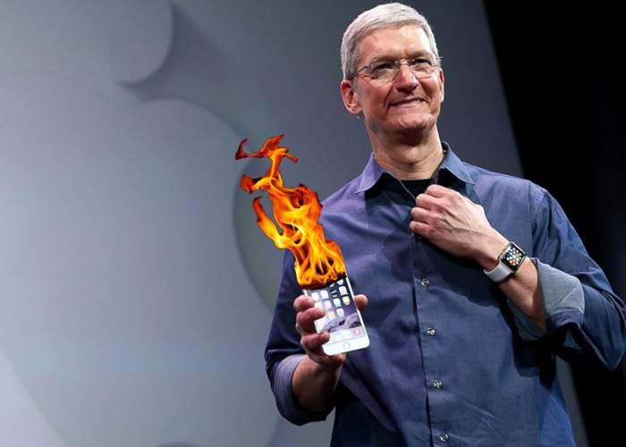 Noul iPhone, revoluţionar. Ia foc şi fără să fie pus la încărcat, nu ca ştifturile de Samsung