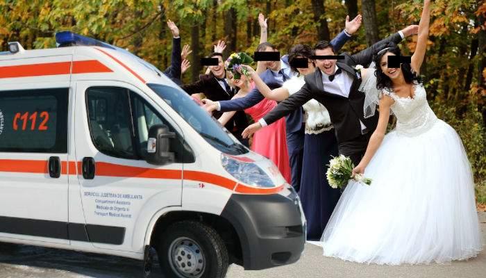 Pentru că se mănâncă şi se bea enorm, nunţile româneşti trebuie să fie prevăzute cu ambulanţă
