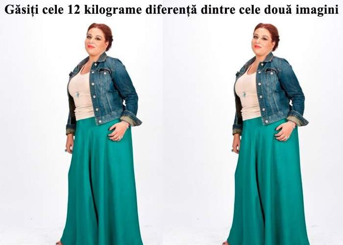 Găsiţi cele 12 kilograme diferenţă dintre cele două imagini cu Oana Roman