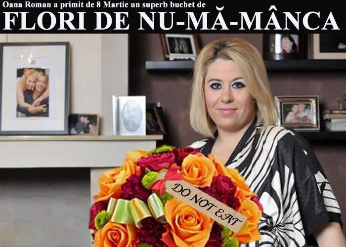 Oana Roman a primit de 8 Martie un buchet de flori de nu-mă-mânca