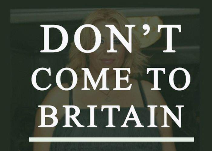 Foto! Englezii scot asul din mânecă: Nu veniţi în Marea Britanie! Toate femeile arată ca Oana Roman