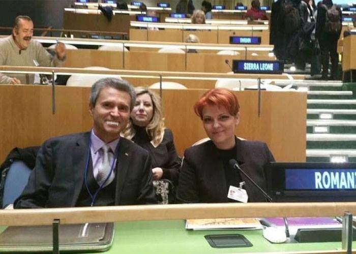 Bătaie pe locuri în sala ONU, după ce s-a anunțat că Olguța va vorbi din nou într-o limbă străină