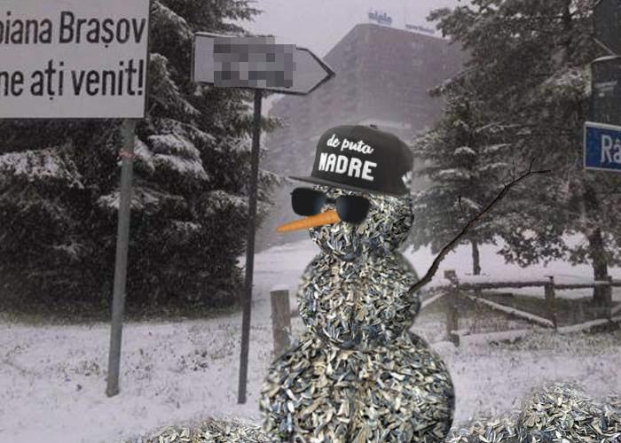 E iarnă și pentru ei! Cocalarii din Poiană fac oameni de zăpadă din coji de seminţe