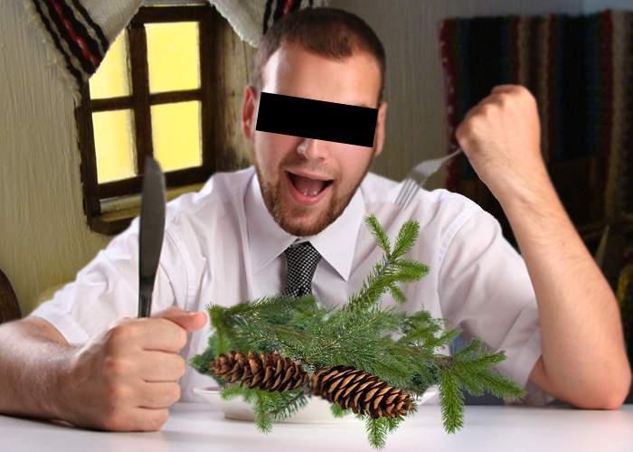 Un român se plânge că a invitat vegani la masa de Crăciun și i-au mâncat bradul